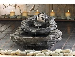 Zingz and Thingz Rock Design Tabletop Fountain