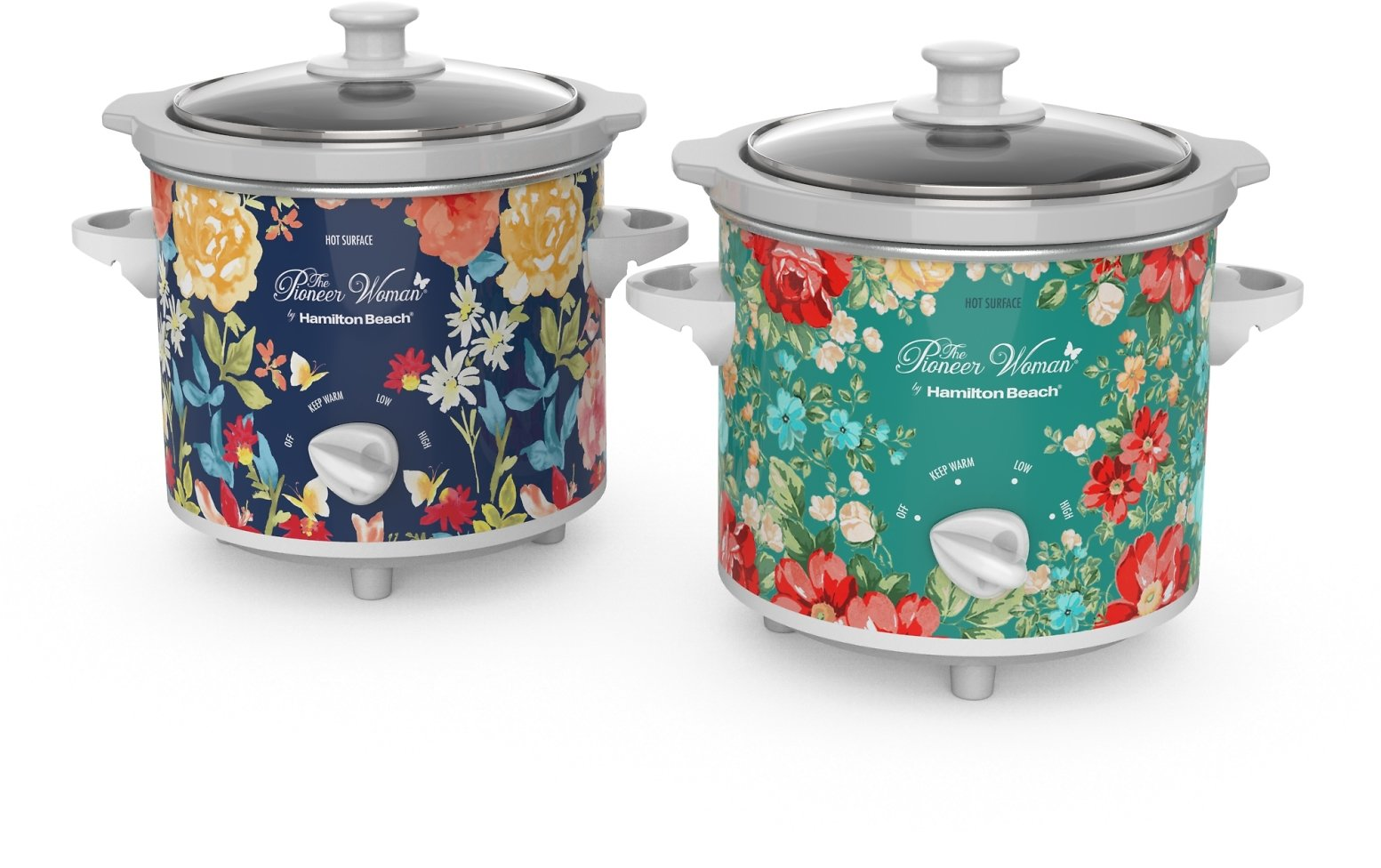 2-Count The Pioneer Woman 1.5 Quart Slow Cooker (2 Styles)