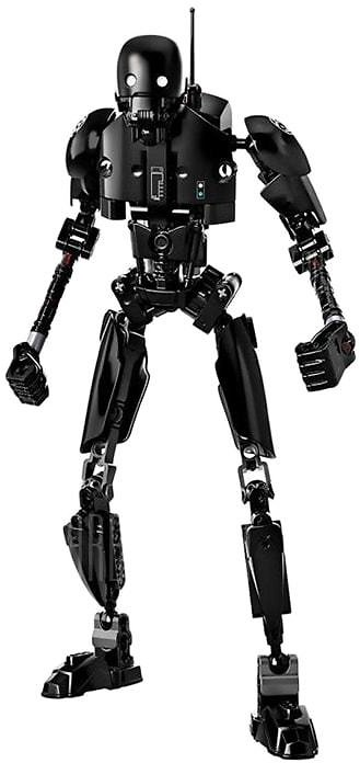 50% OFF...Kids Will Love This Toy...Creative Black Robot Block Toy