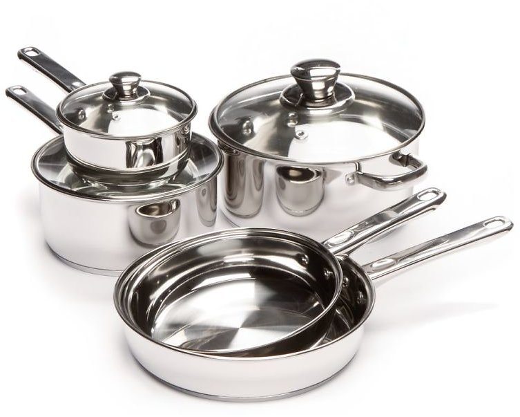 Cooks Tools 8-Piece Stainless Steel Cookware Set