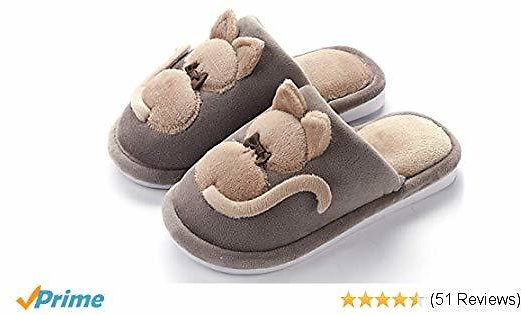 HomyWolf Womens Comfy Fuzzy Slppers, Memory Foam Slip On House Slippers for Mothers and Kids