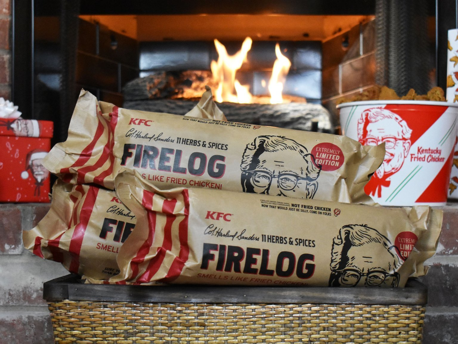 KFC 11 Herbs & Spices Firelog: Smells Like Chicken