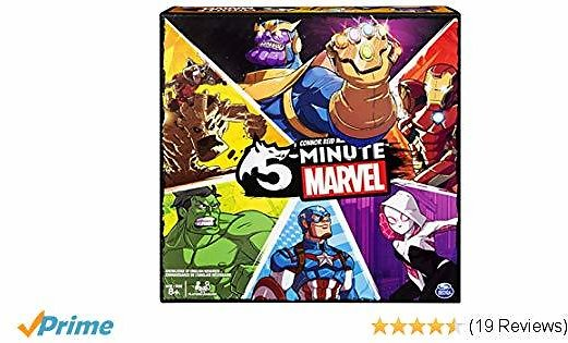 Spin Master Games 5 Minute Marvel Cooperative Card Game for Kids
