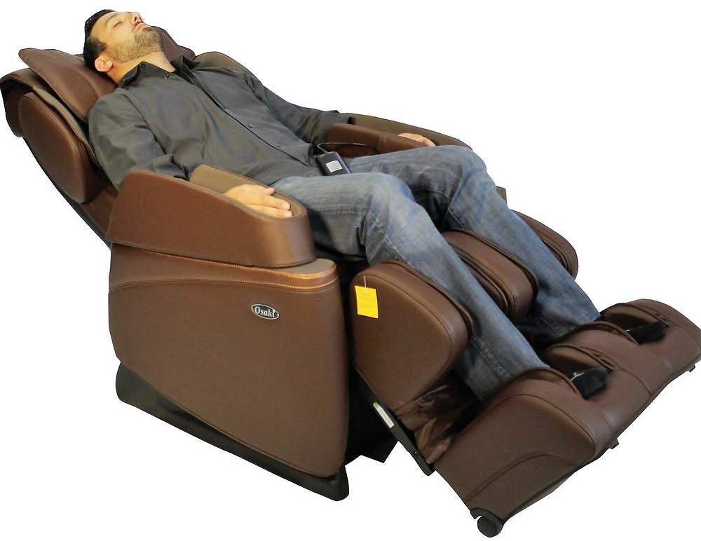 (Ships Free) TITAN Osaki Brown Faux Leather Reclining Massage Chair-OS-3700BROWN