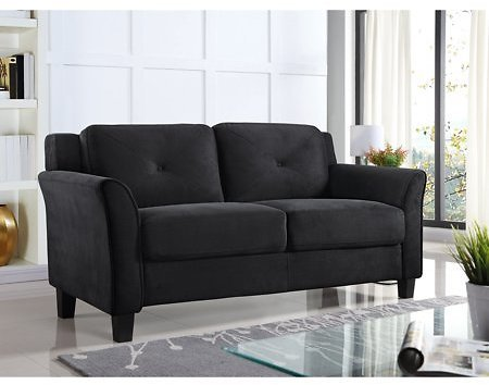 Lifestyle Solutions Harvard Loveseat with Curved Arm