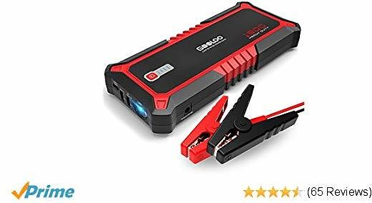 GOOLOO SuperSafe Car Jump Starter, 1500A Peak Quick Charge 3.0 Auto Battery Booster Power Pack, PD15W USB Type-C Portable Phone Charger with Dual USB, Built-in LED Flashlight