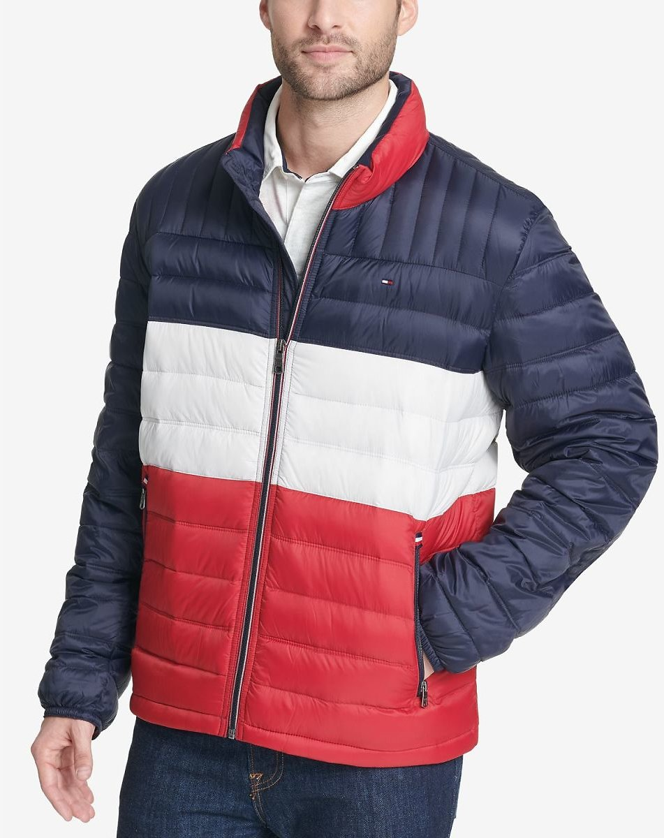 Men's Down Quilted Packable Logo Jacket (Mult. Colors)