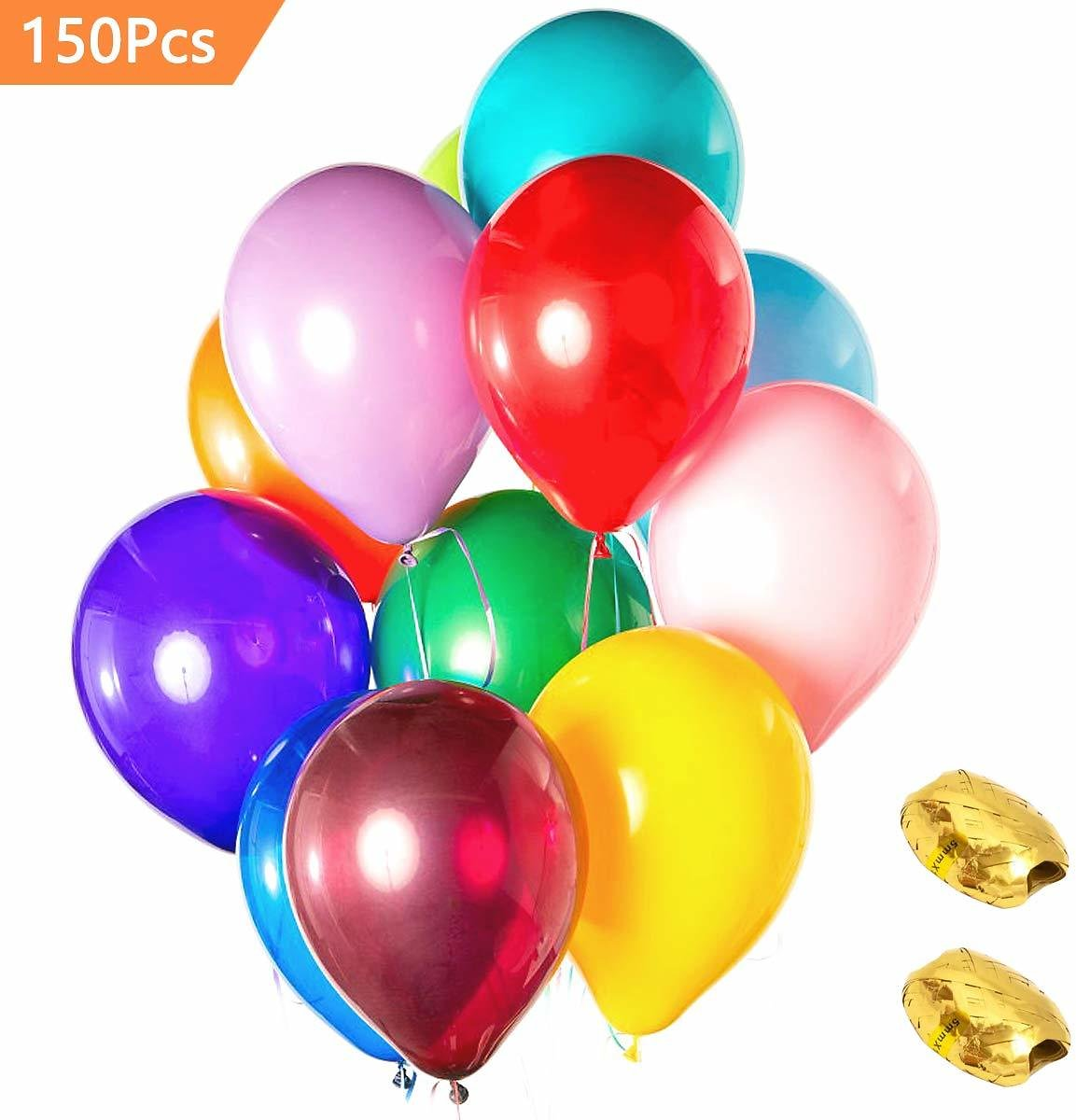 (Ships Free)  150 Packs AOYOO Party Balloons 12-Inch Color Set