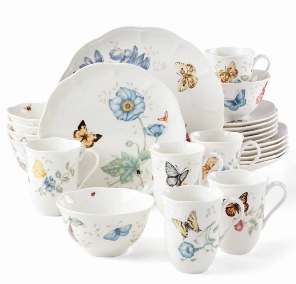 Lenox Butterfly Meadow 24-PC Dinnerware Set + (F/S)