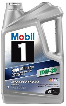 Mobil 1 High Mileage Full Synthetic Motor Oil 10W-30 5 Quart