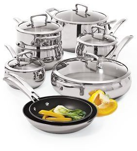 Biltmore® Belly Shaped Stainless 13-Piece Cookware Set