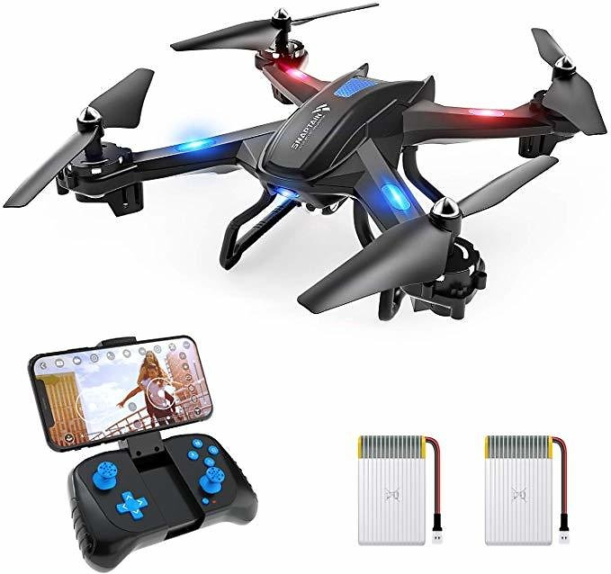 SNAPTAIN S5C WiFi FPV Drone with 720P HD Camera,Voice Control, Wide-Angle Live Video RC Quadcopter (Ships Free)