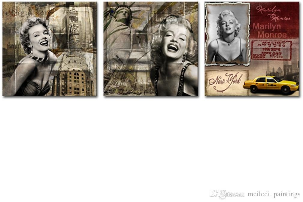 2019 Unframed Canvas Prints Wall Art Marilyn Monroe Antique Style Beautiful Sexy Women For Abstract Artwork Living Room Home Decoration From Meiledi_paintings, $13.54 | DHgate.Com