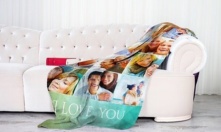 Personalized Soft Cozy Fleece Blankets from Printerpix in Multiple Sizes (Up to 94% Off)