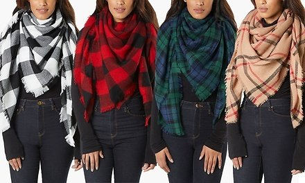 Women's Cold Weather Over-Sized Cozy Blanket Scarf