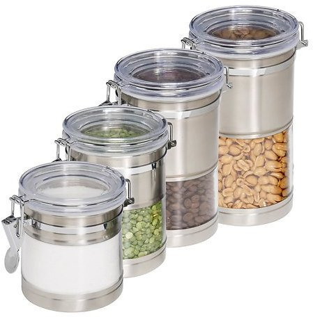 Honey Can Do 4 Piece Kitchen Canister Set