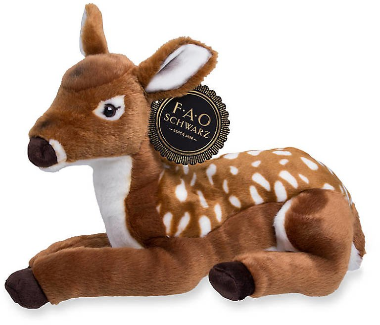 FAO Schwarz Plush Stuffed Fawn