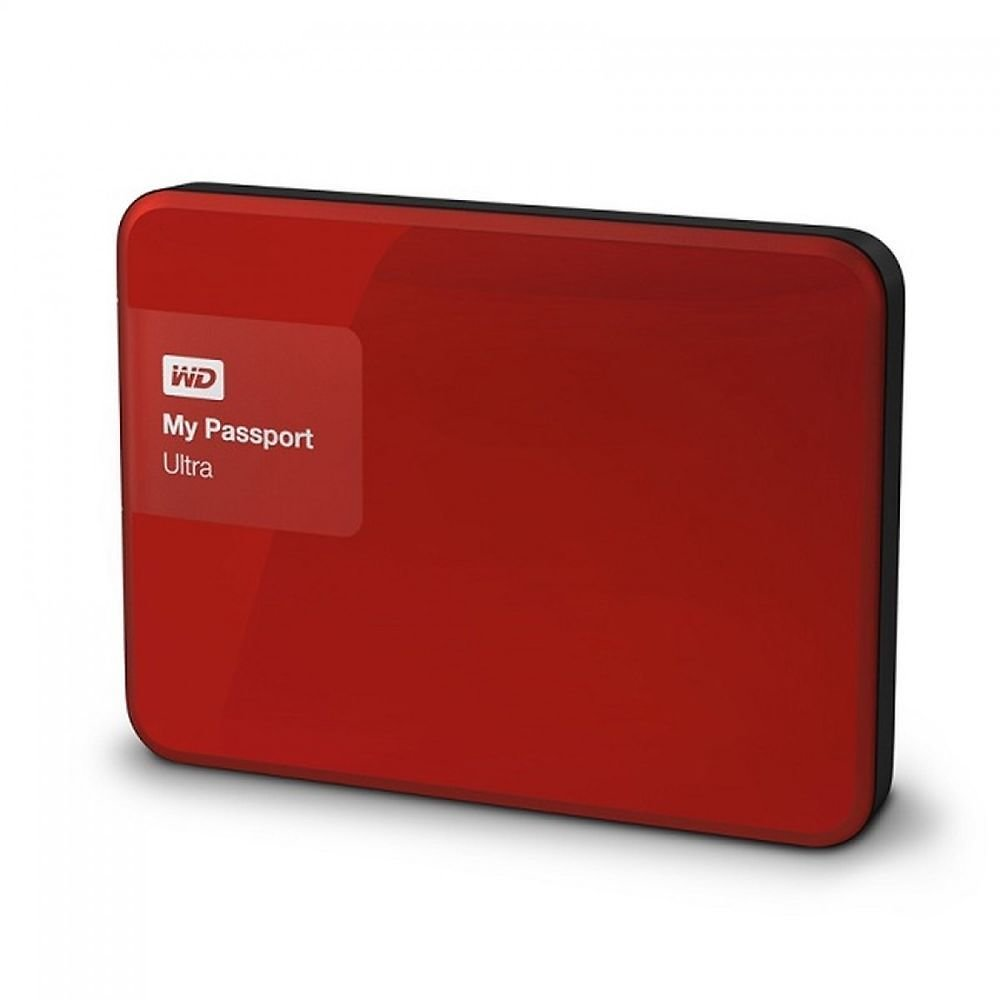 (Ships Free)  WD My Passport Ultra 2TB Red Portable External Hard Drive USB 3.0