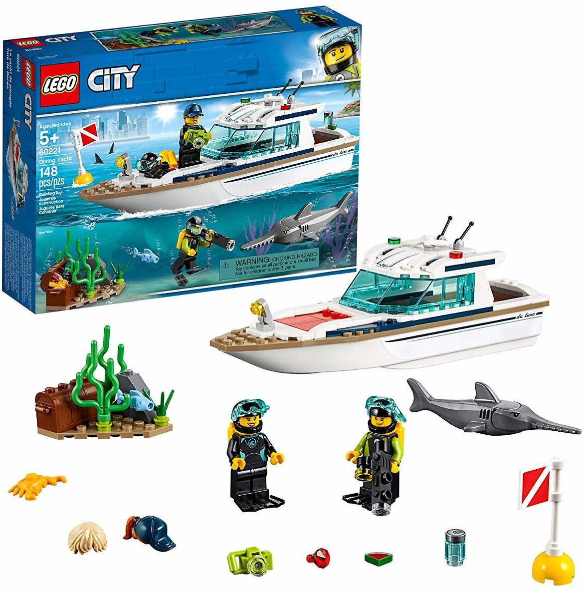 LEGO City Great Vehicles Diving Yacht 60221 Building Kit (148 Piece)
