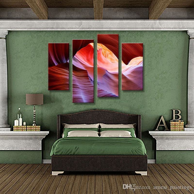 2019 4 Picture Combination Wall Art Painting Antelope Canyon Valley Pink Pictures On Canvas Landscape The Picture For Home Decor From Amesi_paintings, $35.93 | DHgate.Com