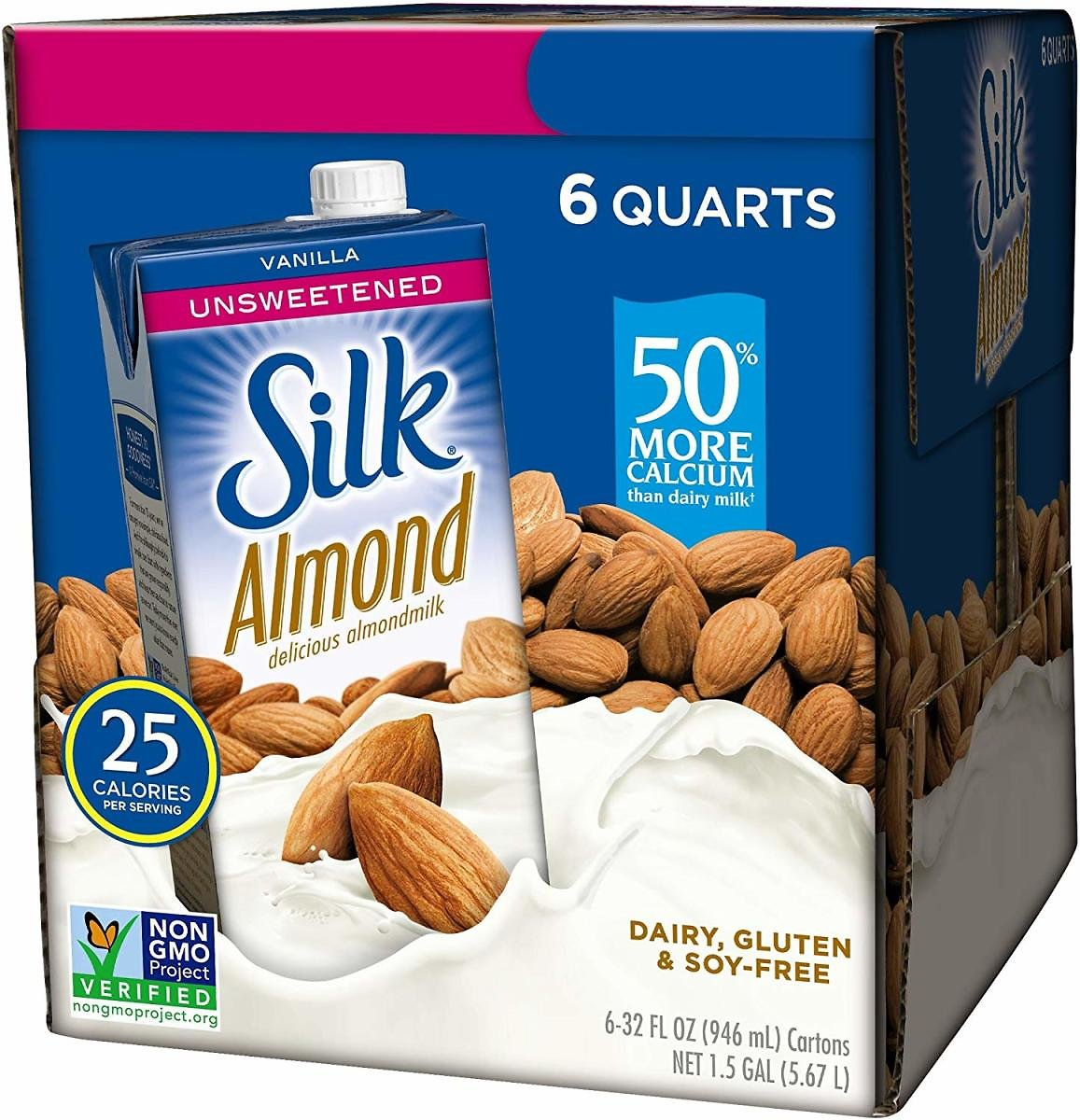 6-Pack Silk Almond Milk, 32 Fl Oz