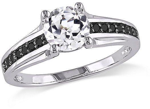 Midnight Black Diamond 1/6 CT. T.W. Color-Enhanced Engagement Ring