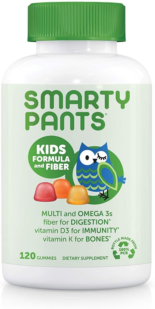 SmartyPants Kids Formula & Fiber Daily Gummy Multivitamin, 120 Count (30 Day Supply)