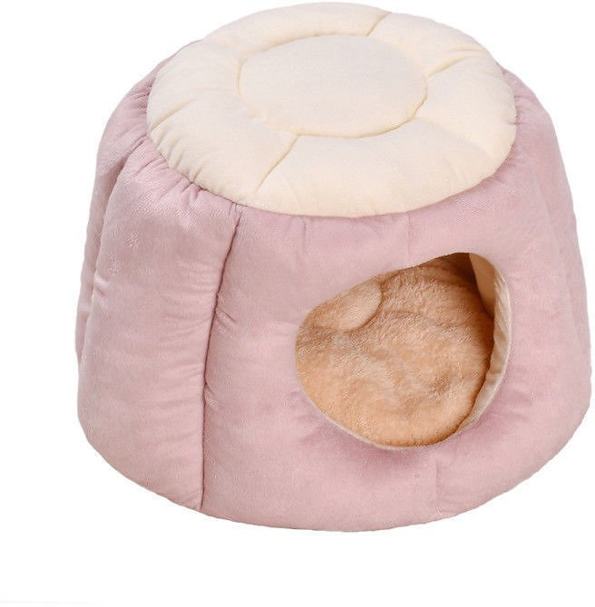 Pet Small Dog Cat Cave Bed Puppy Kitten Warm Cushion Mat Foldable Kennel