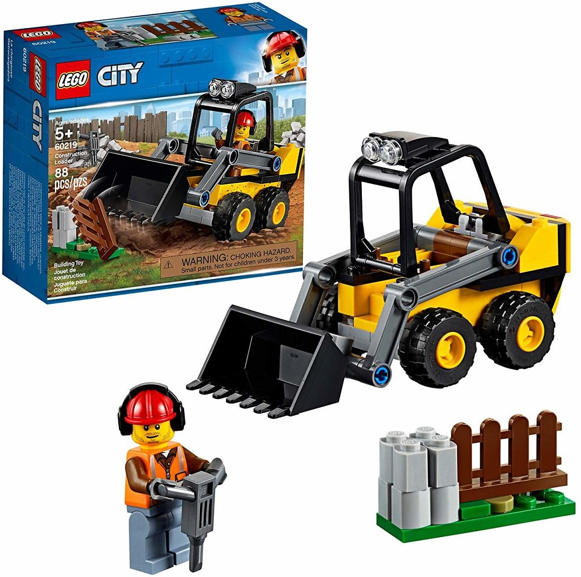 LEGO City Great Vehicles Construction Loader 60219 Building Kit (88 Piece)