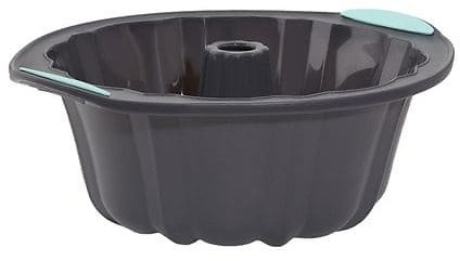 TRUDEAU Silicone Fluted Cake Pan 10 Cup