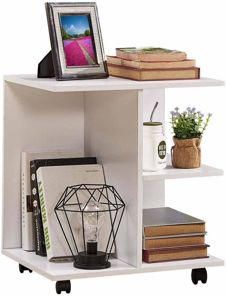 (Ships Free) GreenForest Nightstand with Moveable Wheels - 3 Colors