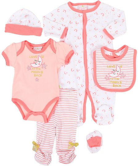 7 Piece Moon & Stars Gift Set (Infant) By Duck Duck Goose
