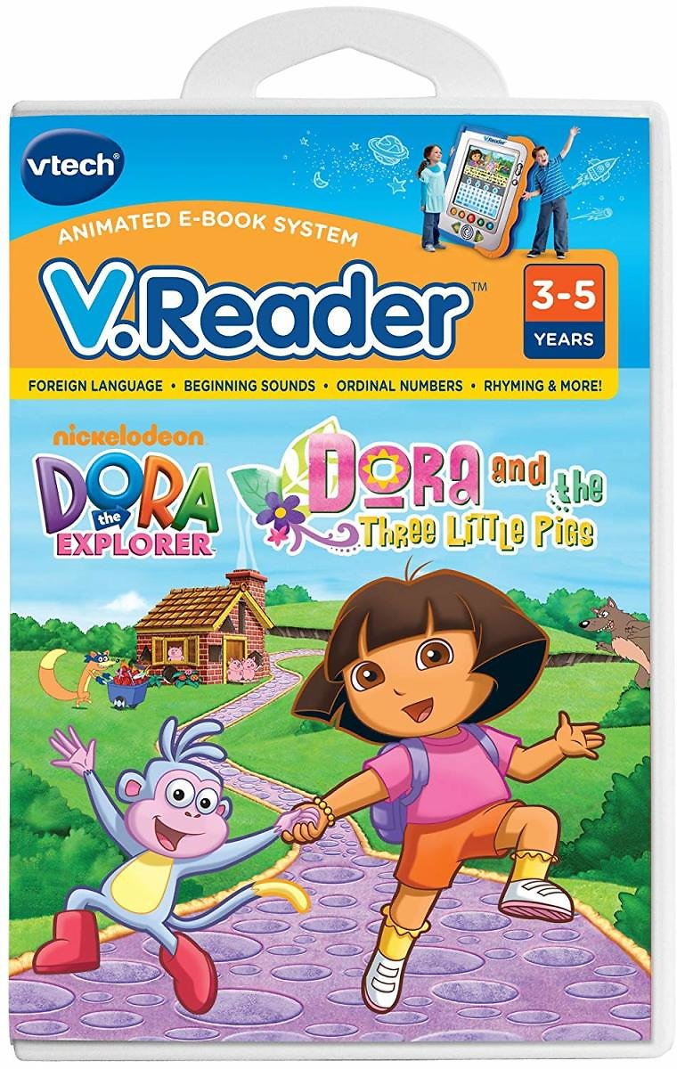 V.Reader Animated E-Book Cartridge - Dora and The Three Little Pigs