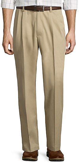 St. Johns Bay Easy-Care Pleat-Front Pants (6 Colors)