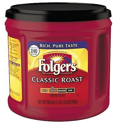 30.5-Oz Folgers Ground Coffee Canister