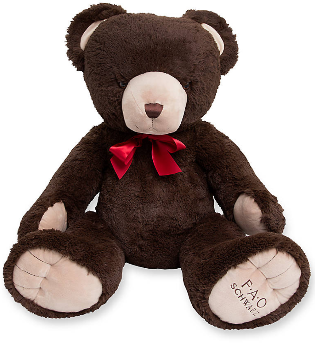 3-Ft. FAO Schwarz Plush Teddy Bear