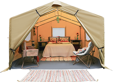 Ozark Trail 12' X 10' All-Season Outfitter Wall Tent, Sleeps 6