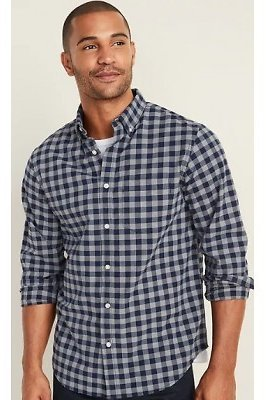Regular-Fit Built-In Flex Everyday Oxford Shirt for Men | Old Navy