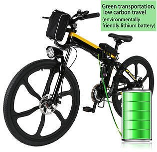 89%OFF.....Bestselling & Amazing Offer.. 26inch 21 Speed Foldable Electric Power Mountain Bicycle Lithium-Ion Battery