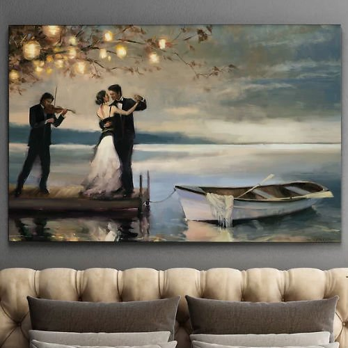 'Twilight Romance' Oil Painting Print
