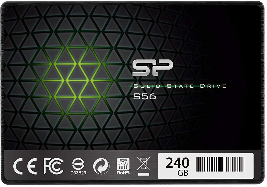 Silicon Power 240GB SSD 3D NAND With R/W Up To 560/530MB/s S56 SLC Cache Performance Boost SATA III 2.5