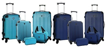 67% OFF....Travelers Club Chicago Spinner Luggage Set (5-Piece)