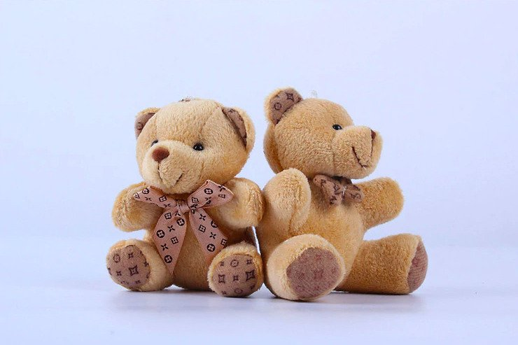 Kawaii Small Teddy Bear Plush Toys Stuffed Fluffy Bear Dolls Soft Kids Baby