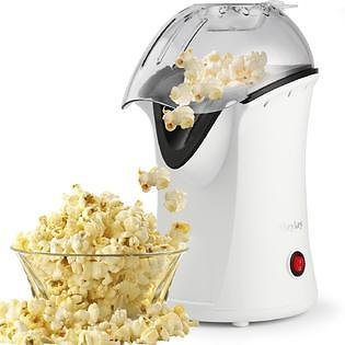 TOPS 1200W Popcorn Machine Hot Air Popcorn Popper with Wide Mouth Design