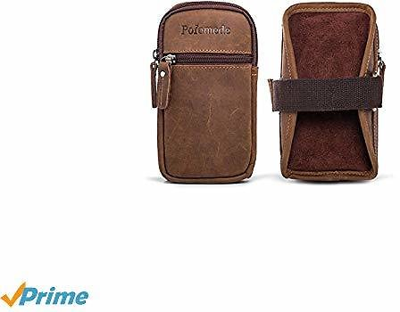 70% Off Armband Holster Leather Phone Carrier ,Exercise Sports Bag Pouch Brown