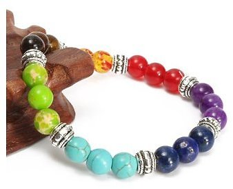8mm Crystal Beads Chakra 7 Gemstone Bracelet