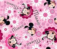 Disney® Minnie Face And Flower Toss Fleece Fabric