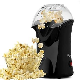 Wonder 1200W Popcorn Machine Hot Air Popcorn Popper with Wide Mouth Design