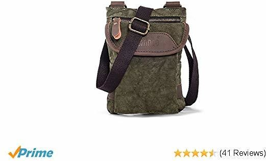 Ranboo Retro Cell Phone Purse, Men's Shoulder Phone Pouch with Belt Loop Clip for IPhone XS Max XS XR 7 8 Plus Galaxy S9 S8 Plus Note 9 8 Small Crossbody Bag 7.9