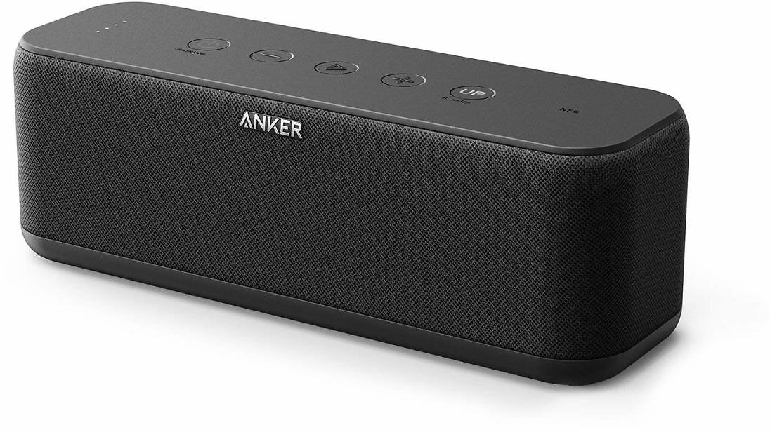 Anker SoundCore Boost 20W Bluetooth Speaker with BassUp Technology - 12h Playtime, IPX5 Water-Resistant, Portable Battery | Amaz